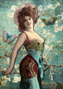 bohemian woman in green
