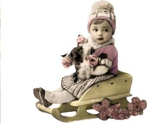 girl sled