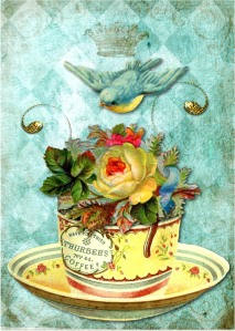 yellow rose teacup